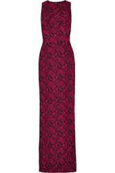 Alice Olivia Roxie Lace Gown Red