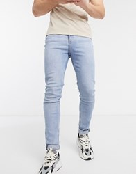 Weekday Friday Slim Tapered Jeans In Blue
