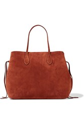 Rochas Suede Tote Red