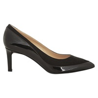 Hobbs Suki Leather Mix Court Shoes Black