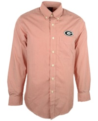 Antigua Men's Long Sleeve Georgia Bulldogs Button Down Shirt