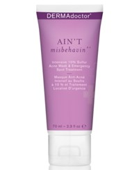 Dermadoctor Ain't Misbehavin' Intensive 10 Sulfur Acne Mask And Emergency Spot Treatment 2.3 Oz. No Color