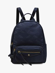 Radley Jacquard Medium Backpack Ink Blue