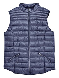 Violeta By Mango Quilted Gilet Navy