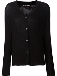 Rochas Lace Back Cardigan Black