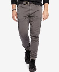 Polo Ralph Lauren Men's Big And Tall Cargo Jogger Pants Vintage Grey