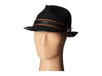 Carlos By Carlos Santana Wool Felt Teardrop Fedora W Guitar Pin Black Caps