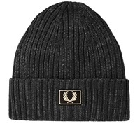 Fred Perry 2 Tone Cotton Beanie Black