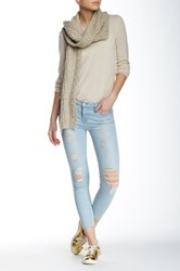 Black Orchid Noah Frayed Cropped Jean Blue