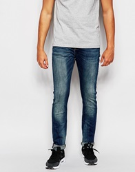Superdry Mid Wash Jeans In Skinny Fit Lightblue