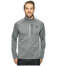 The North Face Canyonlands 1 2 Zip Tnf Medium Grey Heather Men's Long Sleeve Pullover Gray