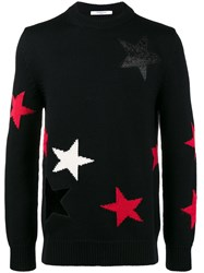 Givenchy Cut Out Star Sweater Wool L Black