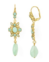 Sorrelli Swarovski Crystal Chandelier Drop Earrings Green Gold