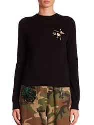 Marc Jacobs Button Back Sweater Black