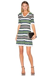 M Missoni 3 4 Sleeve Zig Zag Dress Ivory