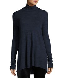 Three Dots Amber Trapeze Turtleneck Night Iris