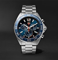 Tag Heuer Formula 1 Chronograph Quartz 43Mm Stainless Steel Watch Ref. No. Caz1014.Ba0842 Blue