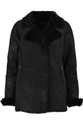 J Brand Wren Shearling Coat Black