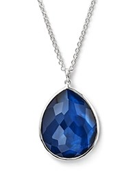 Ippolita Sterling Silver Wonderland Large Teardrop Pendant Necklace In Midnight 16 Silver Blue