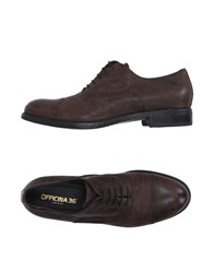 Officina 36 Footwear Lace Up Shoes Dark Brown