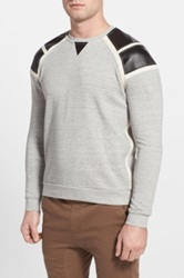 Eleven Paris 'Geel' Paneled Crewneck Sweatshirt Gray
