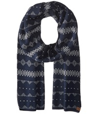 Obey Pitch Scarf Navy Multi Scarves Blue