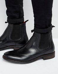 Base London Southwark Leather Chelsea Boot Black
