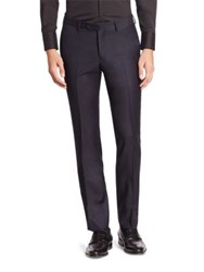 Emporio Armani Flat Front Wool Pants Navy