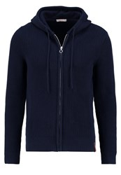 Knowledge Cotton Apparel Cardigan Total Eclipse Dark Blue