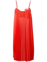 P.A.R.O.S.H. Pleated Shift Dress Red