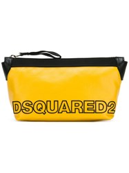 Dsquared2 Two Tone Logo Wash Bag Yellow Orange