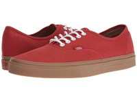 Vans Authentic Gumsole Bossa Nova Light Gum Skate Shoes Red
