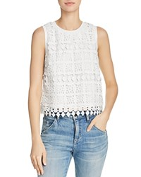 Lucy Paris Sleeveless Lace Top White Lace