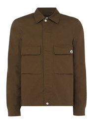 Paul Smith Men's Ps By 2 Pocket Military Jacket Khaki