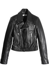 Balenciaga Leather Biker Jacket Black