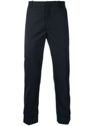 Alexander Mcqueen Slim Fit Tailored Trousers Blue