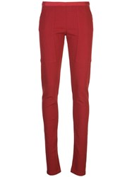 Rick Owens Skinny Fit Trousers Red