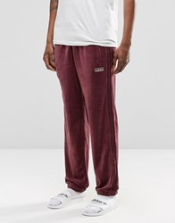 Adidas Originals Archive Velour Cuffed Joggers Ay9231 Red
