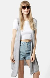Topshop Women's 'Waterfall' Sleeveless Cardigan