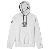 Versace Logo Embroidered Popover Hoody Grey