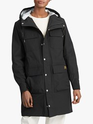 Ralph Lauren Polo Madison Water Repellent Hooded Parka Polo Black