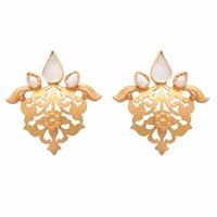 Carousel Jewels Pearl And Crystal Heritage Earrings White Gold