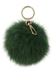Coccinelle Forest Green Fur Keyring