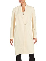 Brunello Cucinelli Long Sleeve Cotton Coat Butter
