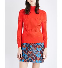 Mary Katrantzou Turtleneck Knitted Jumper Red