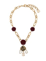 Dolce And Gabbana Decorative Element Necklace Gold