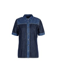 8 Denim Denim Shirts Women Blue