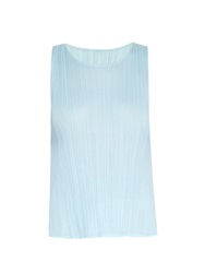 Issey Miyake A Line Sleeveless Pleated Top