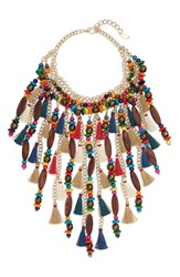 Natasha Beaded Tassel Necklace Multi