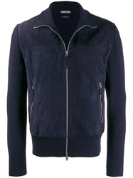 Tom Ford Slim Fit Bomber Jacket Blue